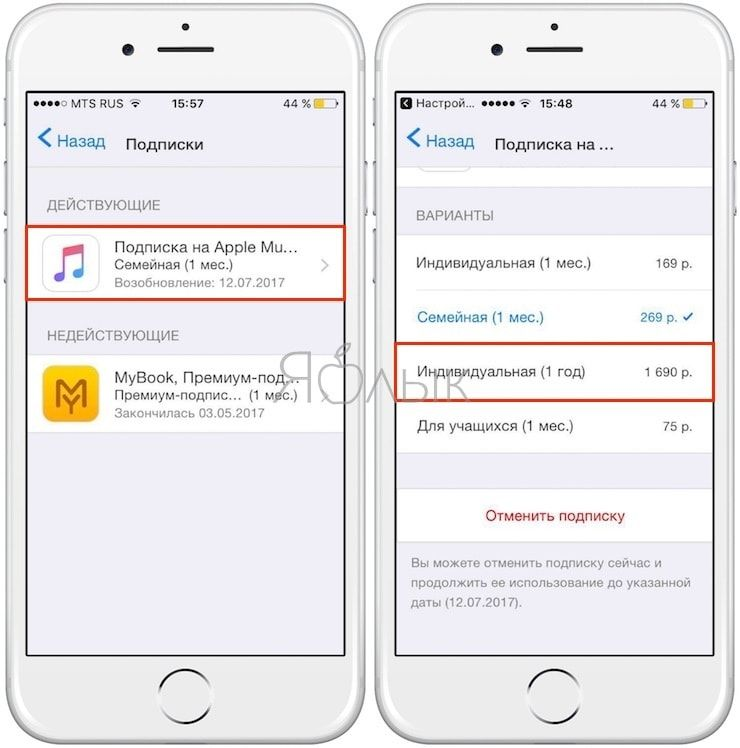 Как купить Индивидуальную подписку на Apple Music со скидкой