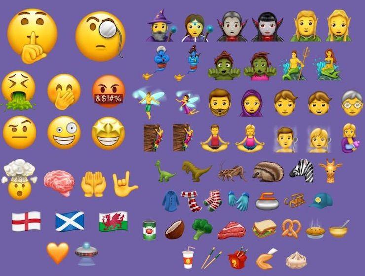 56 новых смайликов эмодзи, которые появятся в iPhone
