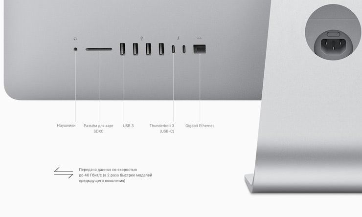 iMac 2017 интерфеqcs