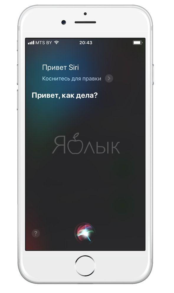 Siri в iOS 11
