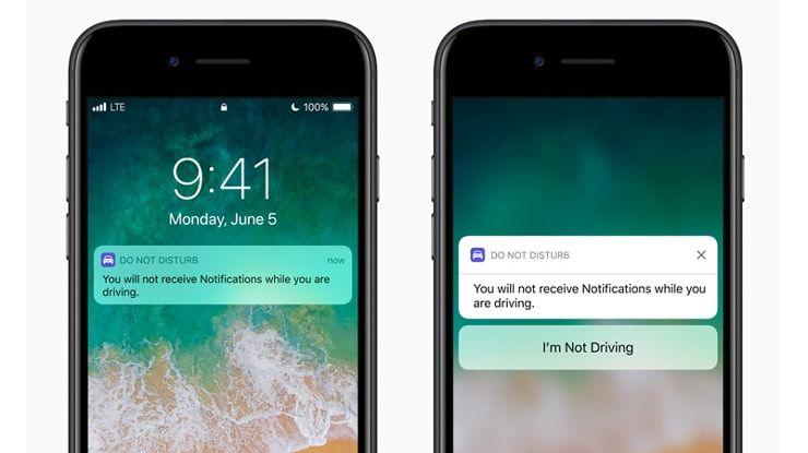 """Режим """"Не беспокоить"""" в авто в iOS 11"""