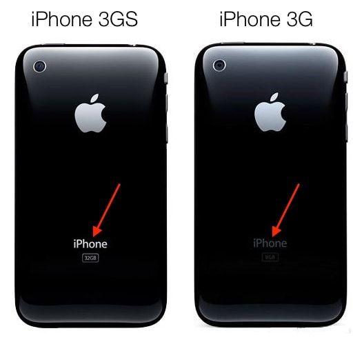 Чем внешне отличаются iPhone 3GS от iPhone 3G