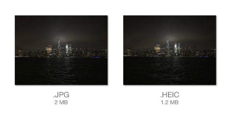 Новые форматы для съемки в iOS 11 сэкономят до 50% места на iPhone и iPad