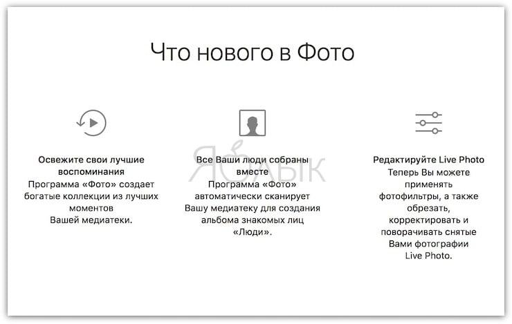 Что нового в приложении Фото на macOS
