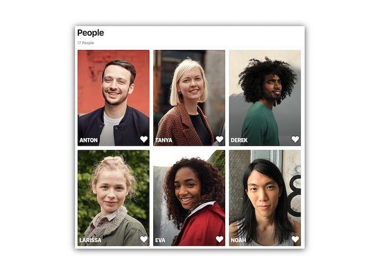 Синхронизация данных о лицах в Фото
