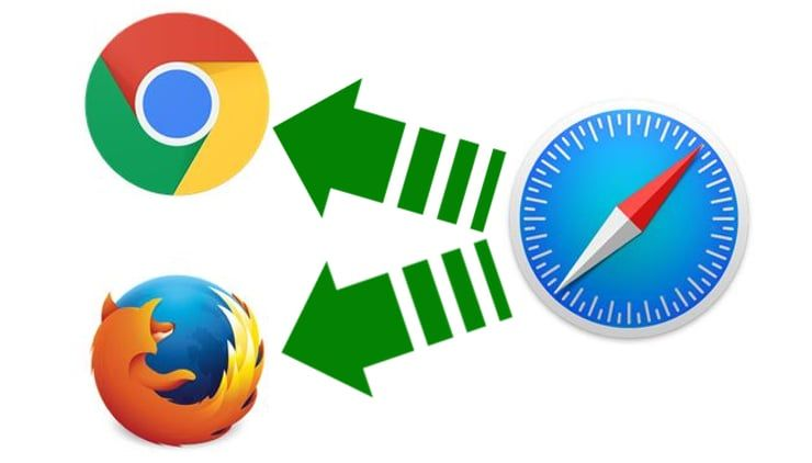safari chrome firefox