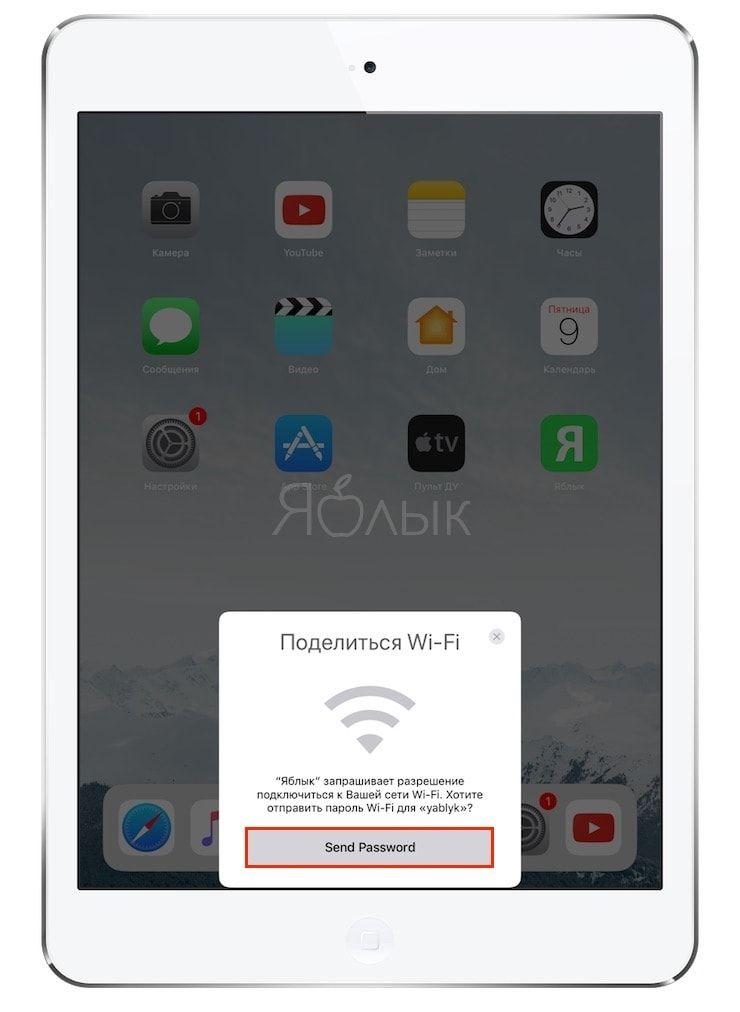 Как передать пароль от Wi-Fi на чужой iPhone или iPad
