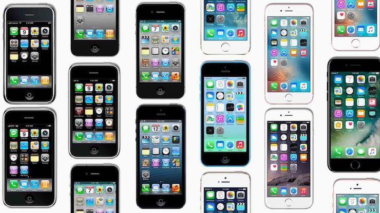 Разные модели iPhone
