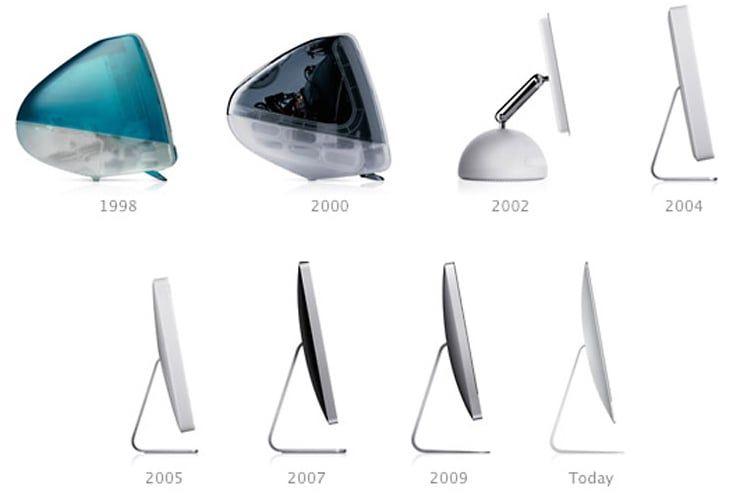 Эволюция дизайна iMac