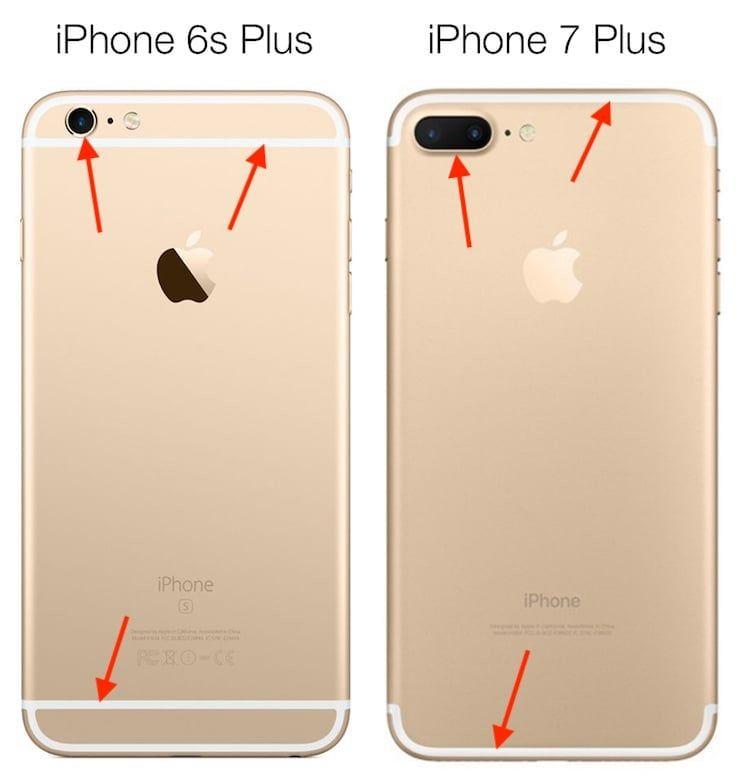 iPhone 6s Plus compare iPhone 7Plus