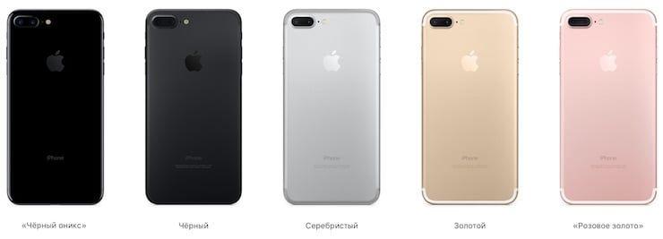 Все цвета iPhone 7 Plus