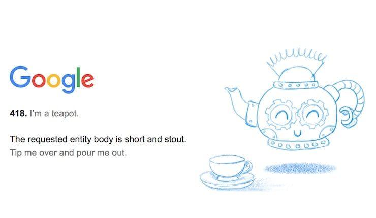 Google teapot