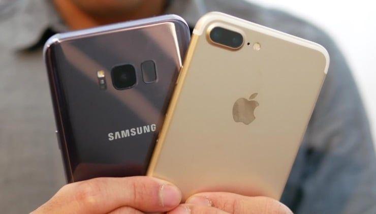 Samsung galaxy s8 iphone 7 plus