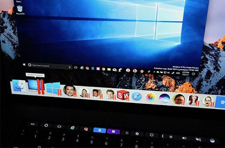 Windows 10 People Bar в parallels desktop 13