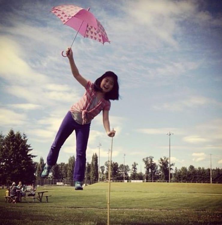Фото с эффектом левитации (полета) на iPhone