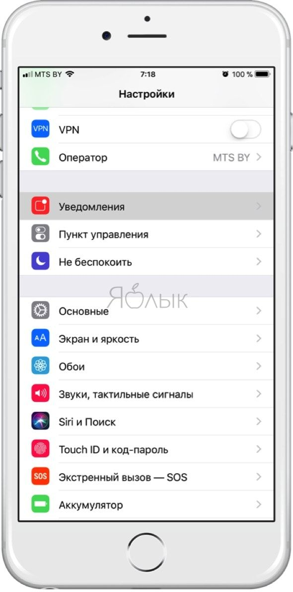 Уведомления iOS