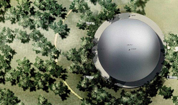Театр имени Стива Джобса на территории Apple Park