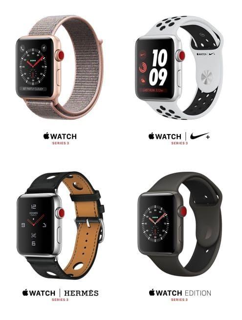 Модели apple watch 3 cellular