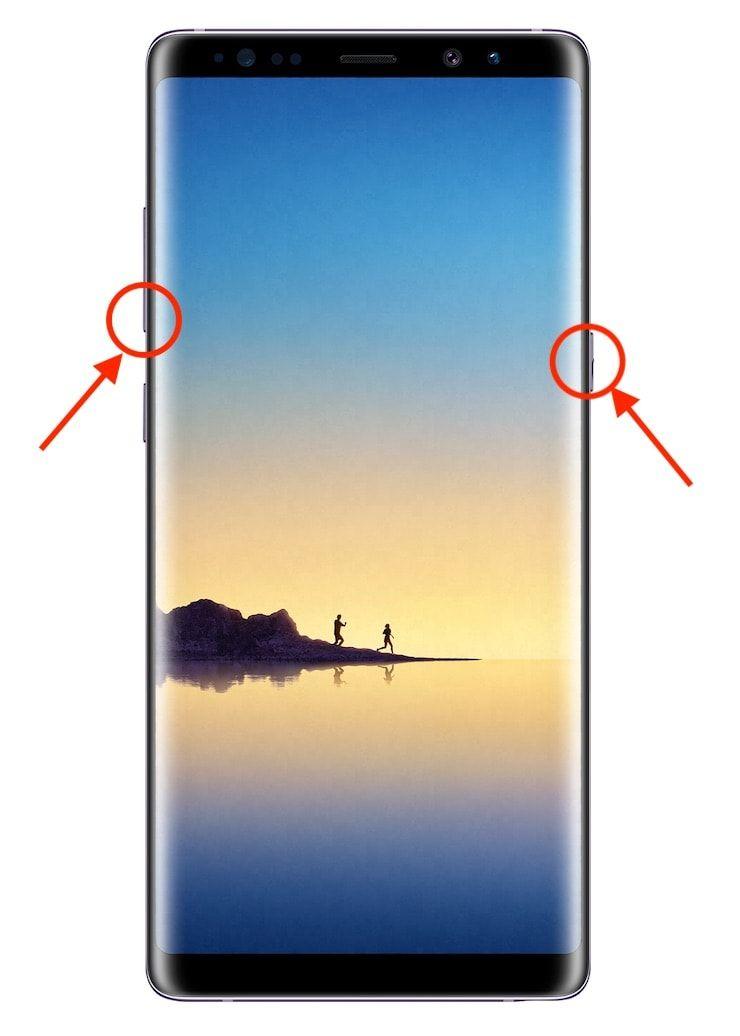 Как сделать скриншот экрана на Galaxy Note 8