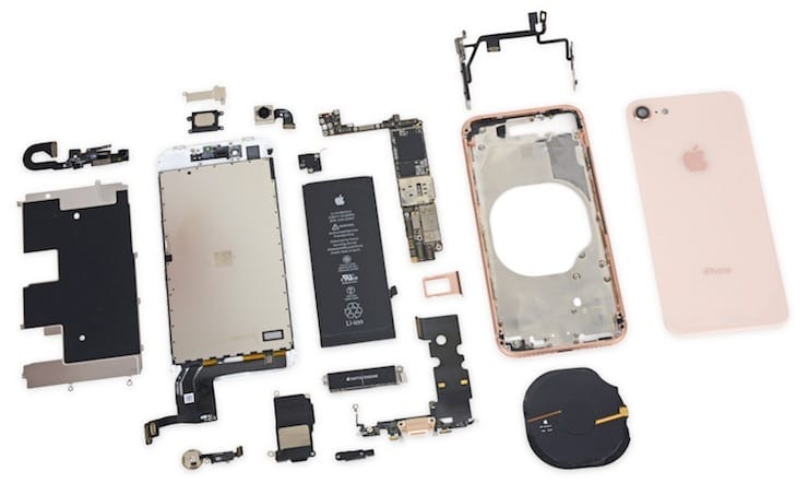 разборка iphone 8 teardown от ifixit
