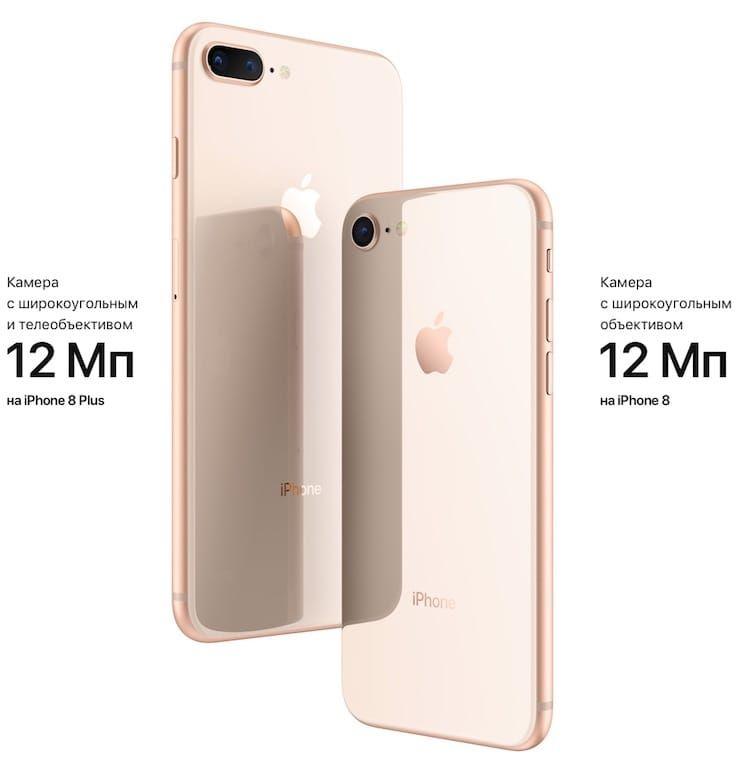 Камеры iphone 8 и iphone 8 plus