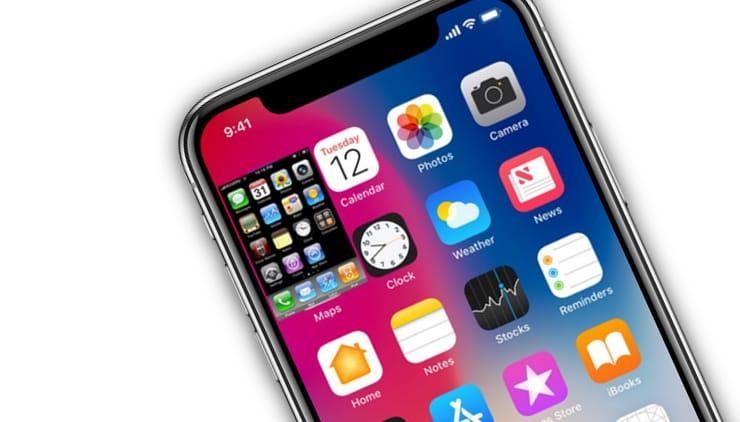 На экране iPhone X помещается 18 экранов iPhone 2G