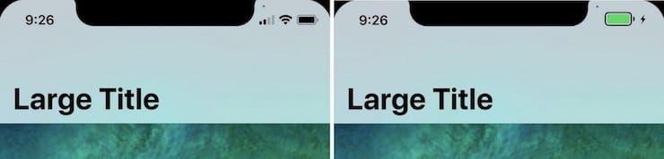 Каким будет измененный статус-бар (панель, где часы) в iPhone X