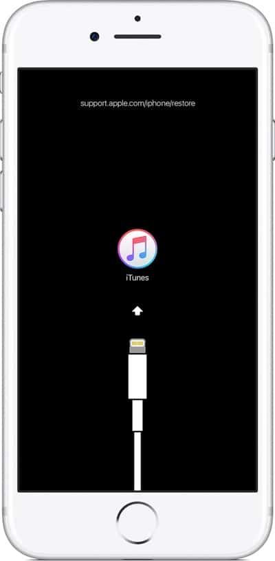 iPhone 8 в режиме восстановления