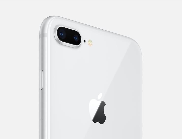 Серебристый iPhone 8