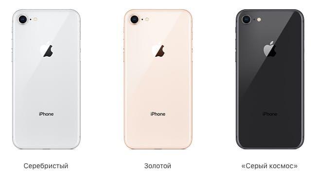 Цвета iPhone 8