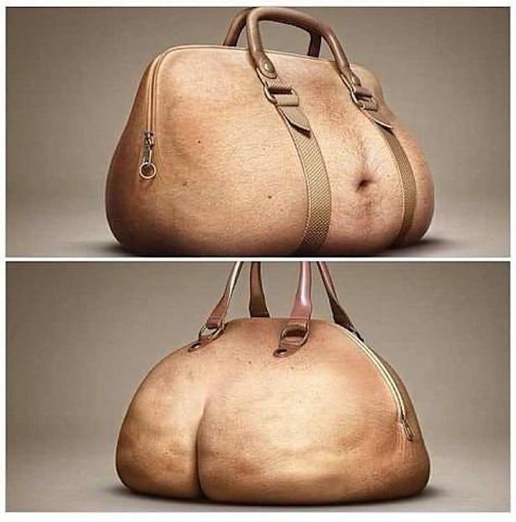сумка - волосатый живот