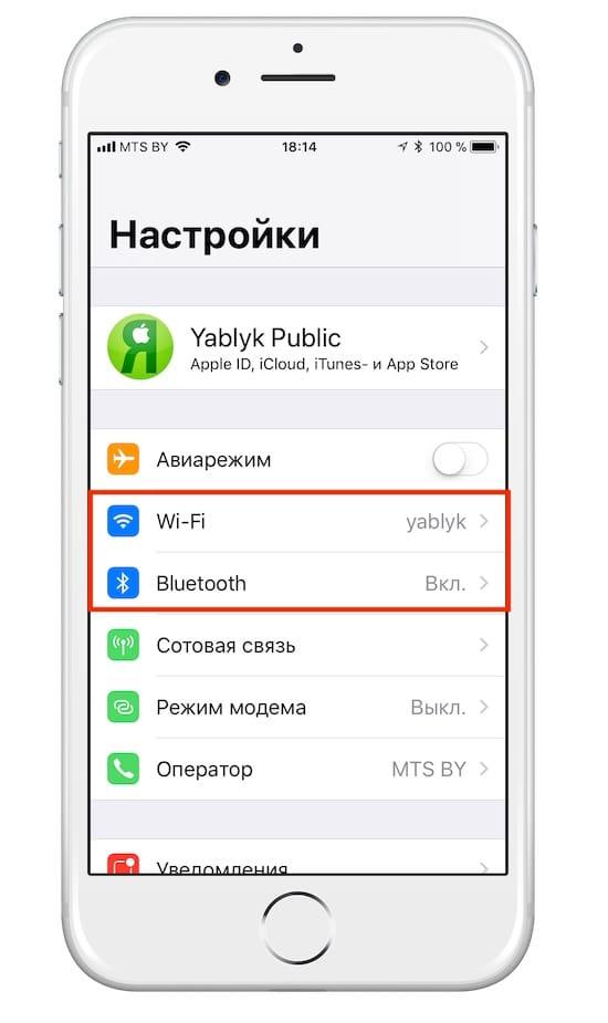 Wi-Fi и Bluetooth