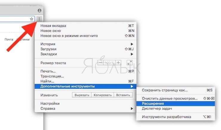 Как удалить или отключить расширение в браузере Chrome