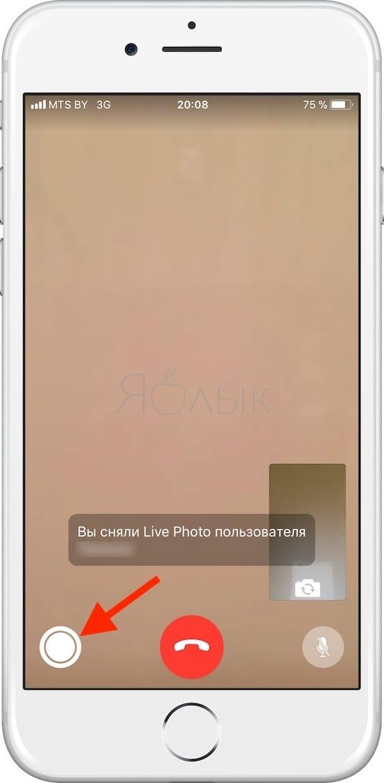 Как включить и отключить функцию «живых» фото во время разговора по FaceTime