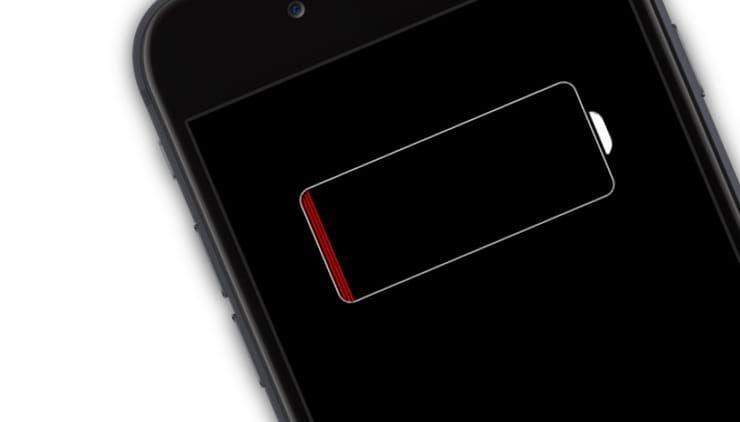 разряжается батарея на iPhone