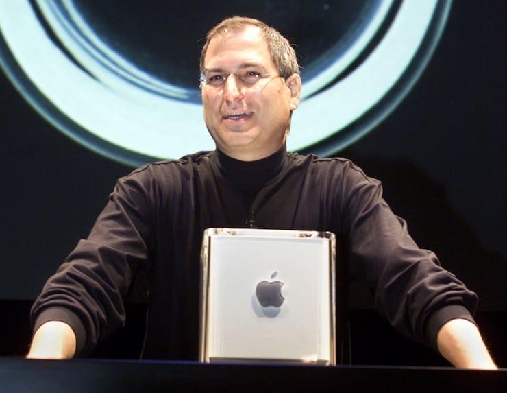 Стив Джобс и Mac G4 Cube