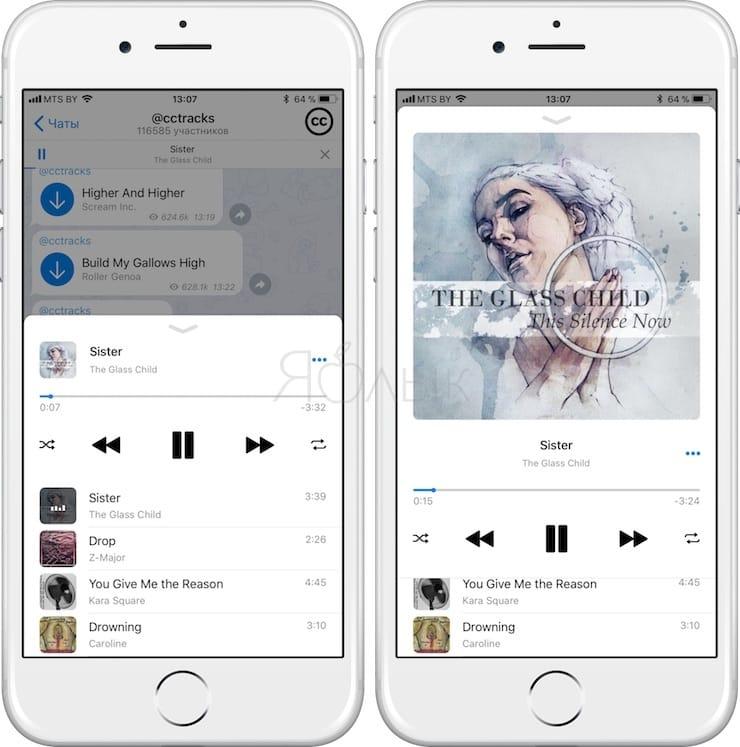 Как бесплатно слушать музыкув Telegram на iPhone
