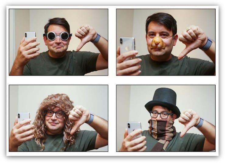 Face ID против бороды, шарфа и очков