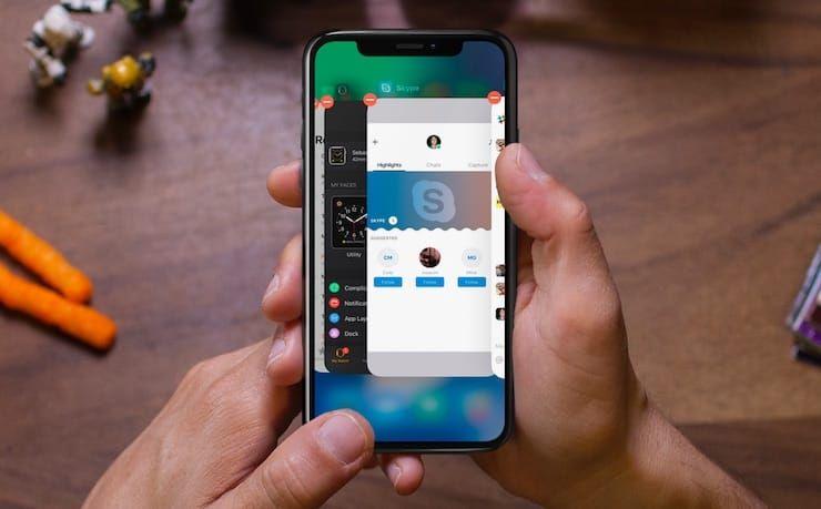 Как закрыть приложение на iPhone 10 (X)