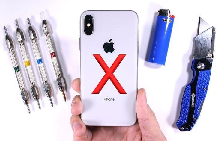 Легко ли разбить или поцарапать экран и заднюю поверхность iPhone X