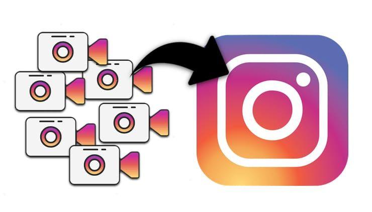 Как склеить несколько видео в одно (до 1 мин) в Instagram на iPhone