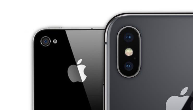 iPhone 4 и iPhone X