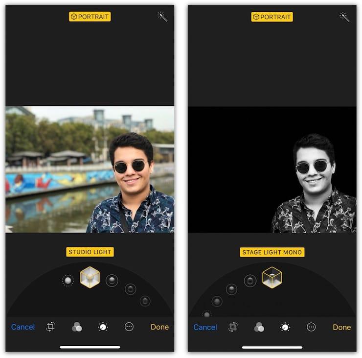 iPhone 7 Plus поддерживает Портретное освещение