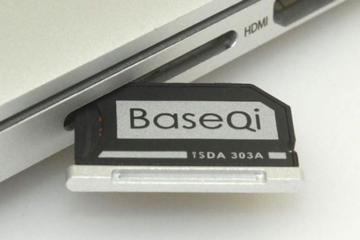 Insert microSD в Macbook
