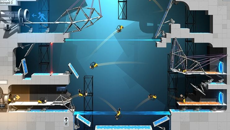 Игра Portal Bridge Constructor для iPhone и iPad — гибрид Portal и Bridge Cunstructor