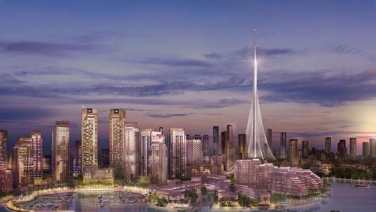 Башня в Дубай-Крик Харбор
