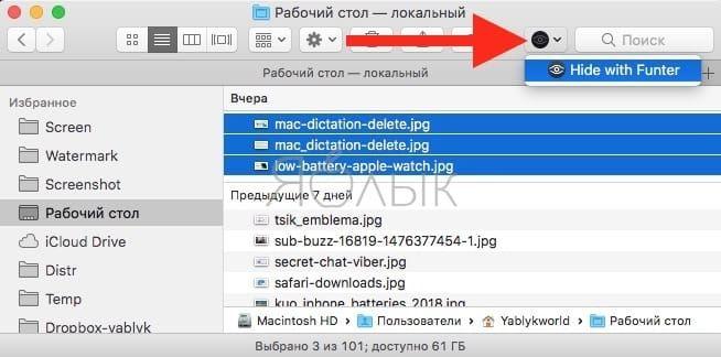 Как скрывать любые файлы и папки на Mac при помощи приложенияFunter