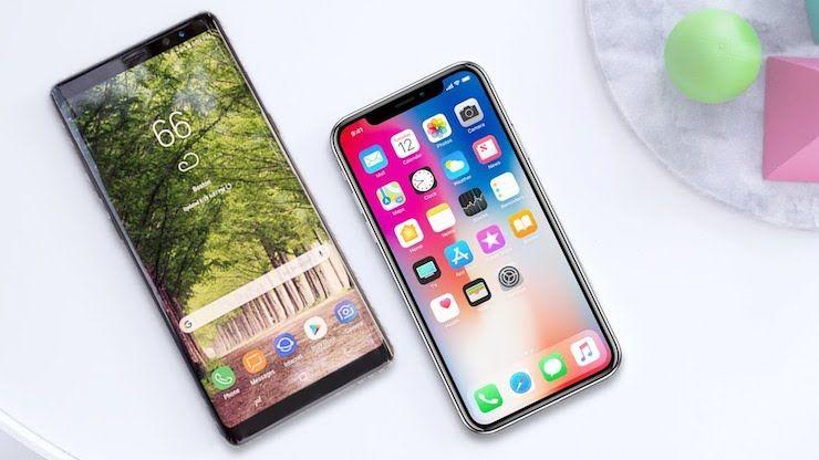 iPhone X и Galaxy Note 8