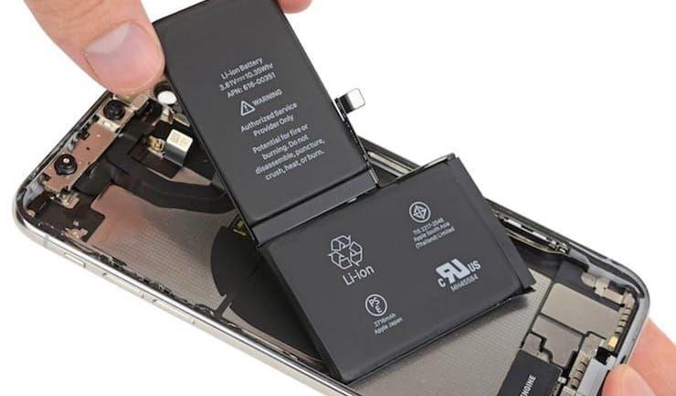 Батарея в iphone x