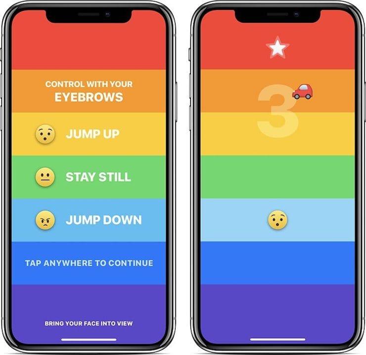 Rainbrow – игра для iPhone X